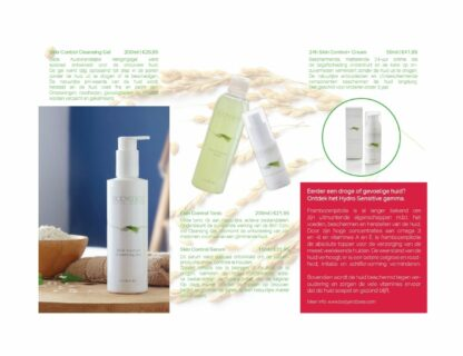 Body&Bess Brochure Skin Control (gelaat) binnenzijde