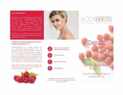 Body&Bess Brochure Hydro Sensitive (gelaat) buitenzijde