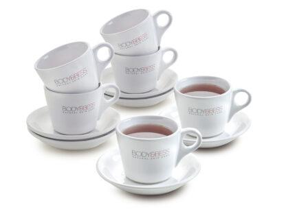 Bedrukte Body&Bess tassen met thee 6 stuks