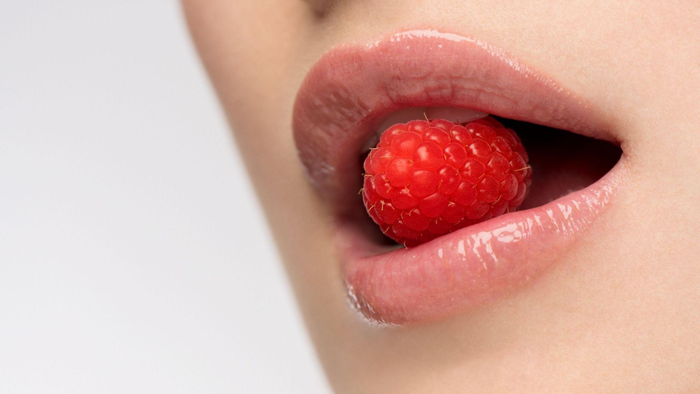 Lippen met framboosje